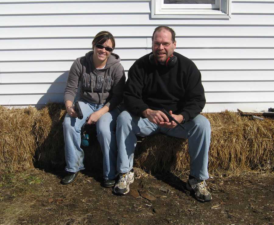Dad and Lindy on the first day of Spring 2011